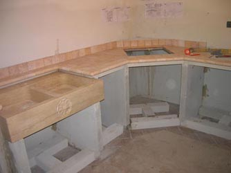 Столешница из гипсокартона на кухне