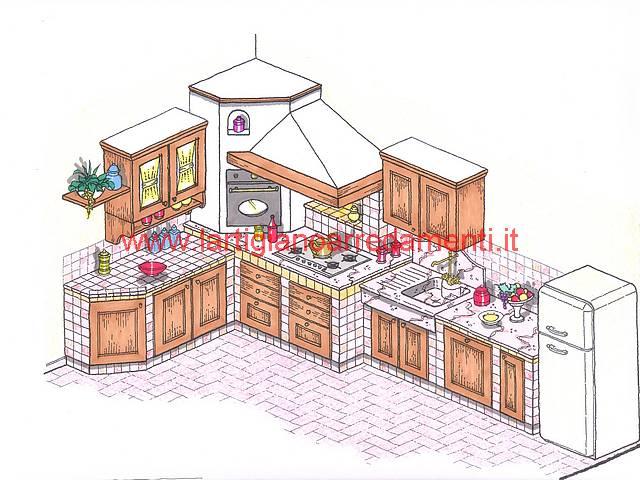 Best disegno di una cucina images design ideas 2017 - Progettare una cucina in muratura ...